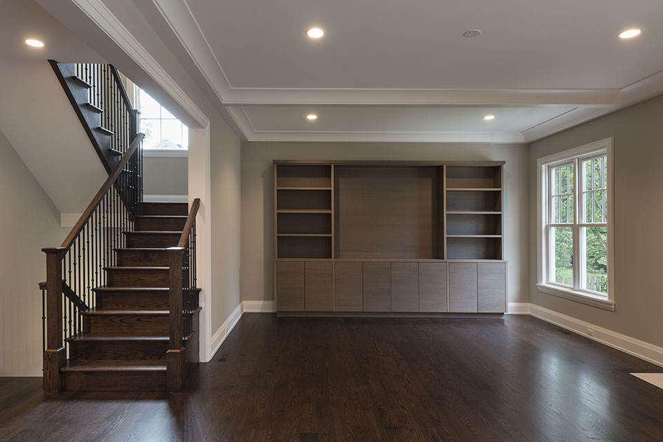 1525-Canterbury-Glenview - Family-Room,-Front-View - Globex Developments Custom Homes