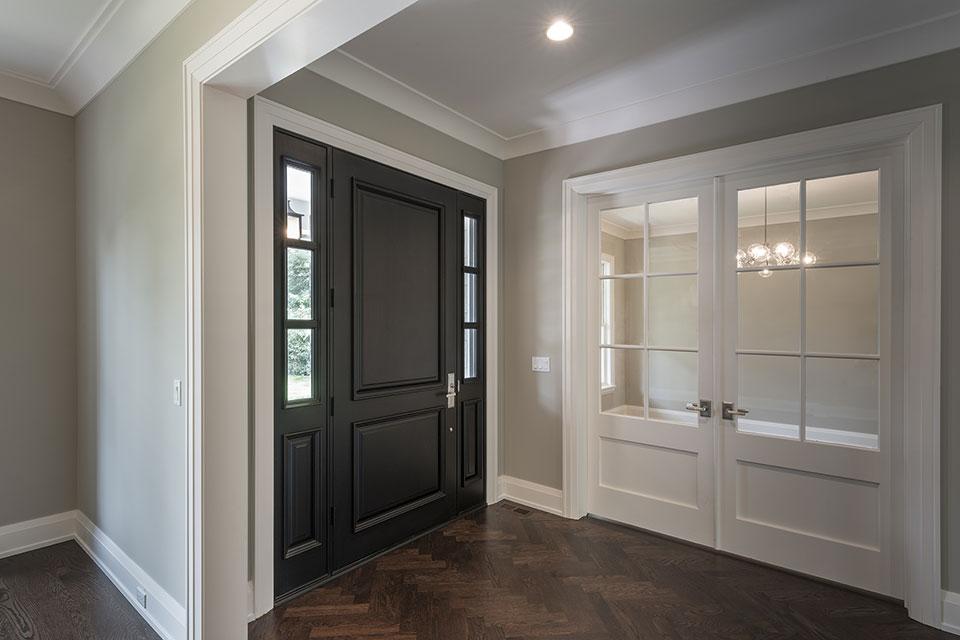 1525-Canterbury-Glenview - Front Doors, Office View - Globex Developments Custom Homes