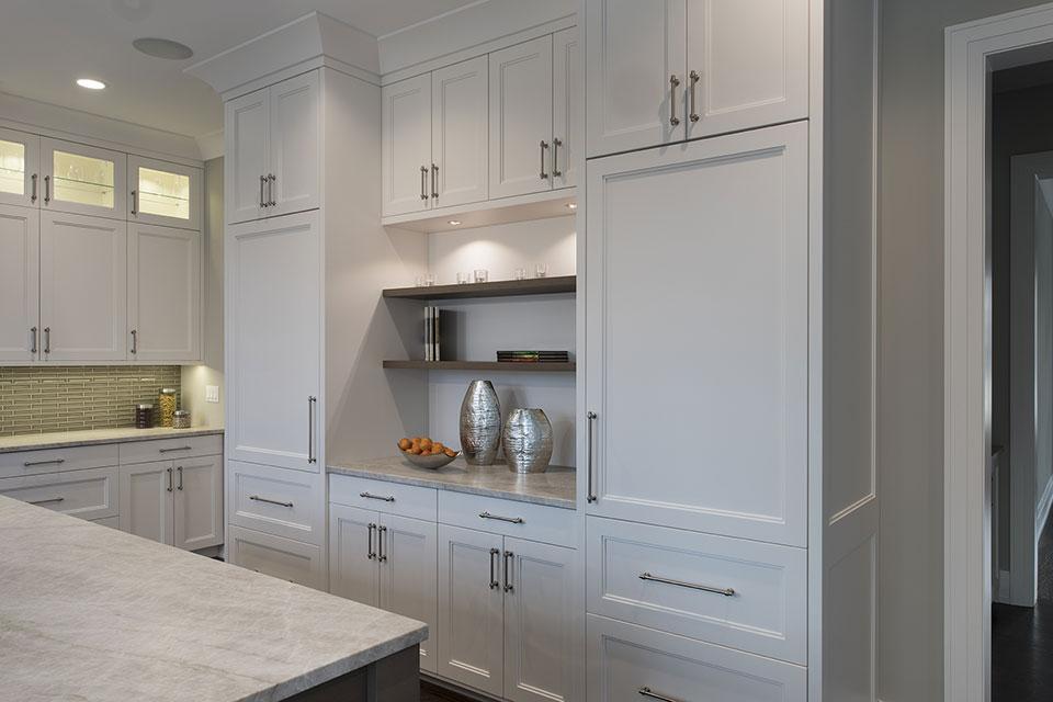 1525-Canterbury-Glenview - Kitchen Refrigirator Cabinets - Globex Developments Custom Homes