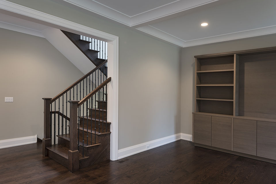1525-Canterbury-Glenview - Stairs,-Family-Room - Globex Developments Custom Homes