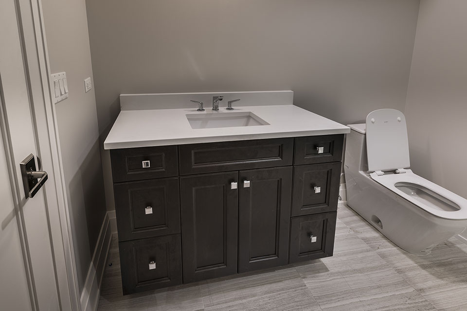 1525-Canterbury-Glenview - Vanity-Basement-Bathroom - Globex Developments Custom Homes