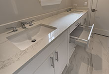 1525-Canterbury-Glenview - Bathroom White Vanity, Open Drawer - Globex Developments Custom Homes
