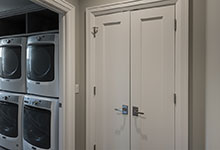 1525-Canterbury-Glenview - Closet Double Doors, Laundry Entrance - Globex Developments Custom Homes