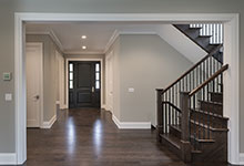 1525-Canterbury-Glenview - Front Doors View from Family Room - Globex Developments Custom Homes