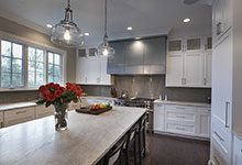 1525-Canterbury-Glenview - Kitchen, Island, Window View - Globex Developments Custom Homes