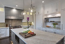 1525-Canterbury-Glenview - Kitchen Island, Refrigirator Cabinets - Globex Developments Custom Homes