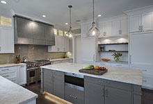 1525-Canterbury-Glenview - Kitchen Island, Refrigirators View - Globex Developments Custom Homes