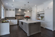 1525-Canterbury-Glenview - Kitchen Lights Off - Globex Developments Custom Homes