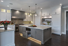 1525-Canterbury-Glenview - Kitchen Lights On Island Open Drawer - Globex Developments Custom Homes