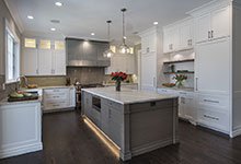 1525-Canterbury-Glenview - Kitchen Lights On - Globex Developments Custom Homes
