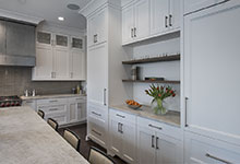 1525-Canterbury-Glenview - Kitchen Refrigirator Cabinets, Island Chairs - Globex Developments Custom Homes