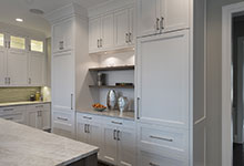 1525-Canterbury-Glenview - Kitchen Refrigirator Cabinets - Globex Developments Custom Homes