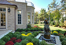1620-Meadow-Glenview - Backyard Fountain - Globex Developments Custom Homes