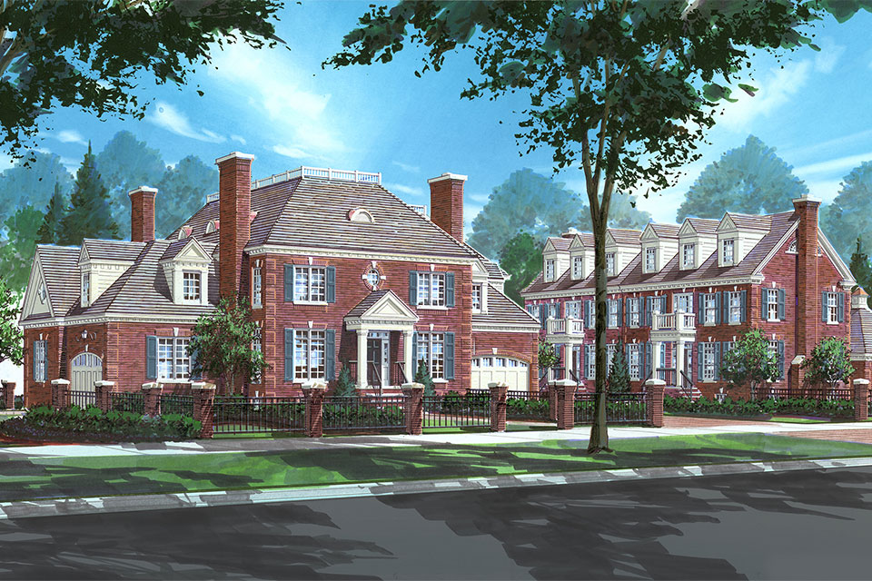 1800-Prairie-TownHomes - Architectual-Rendering - Globex Developments Custom Homes