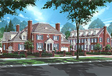 1800-Prairie-TownHomes - Architectural Rendering - Globex Developments Custom Homes
