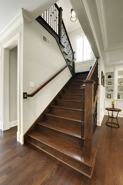 1924-Alexandria-Ct-Northbrook - Staircase-Detail - Globex Developments Custom Homes