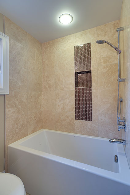 1929-Palmgren-Glenview - guest-bath-shower - Globex Developments Custom Homes