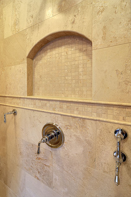 1929-Palmgren-Glenview - masterbath-shower-tile - Globex Developments Custom Homes