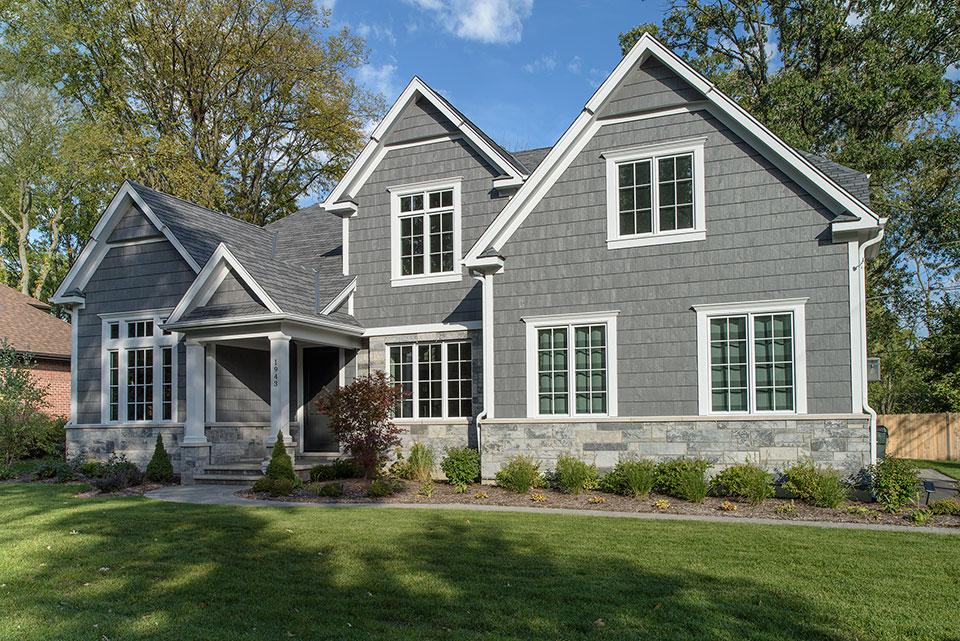 1943-Glen-Oak-Glenview - Front Elevation - Globex Developments Custom Homes