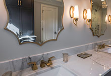 1943-Glen-Oak-Glenview - Master Bathroom Vanity, Detail - Globex Developments Custom Homes