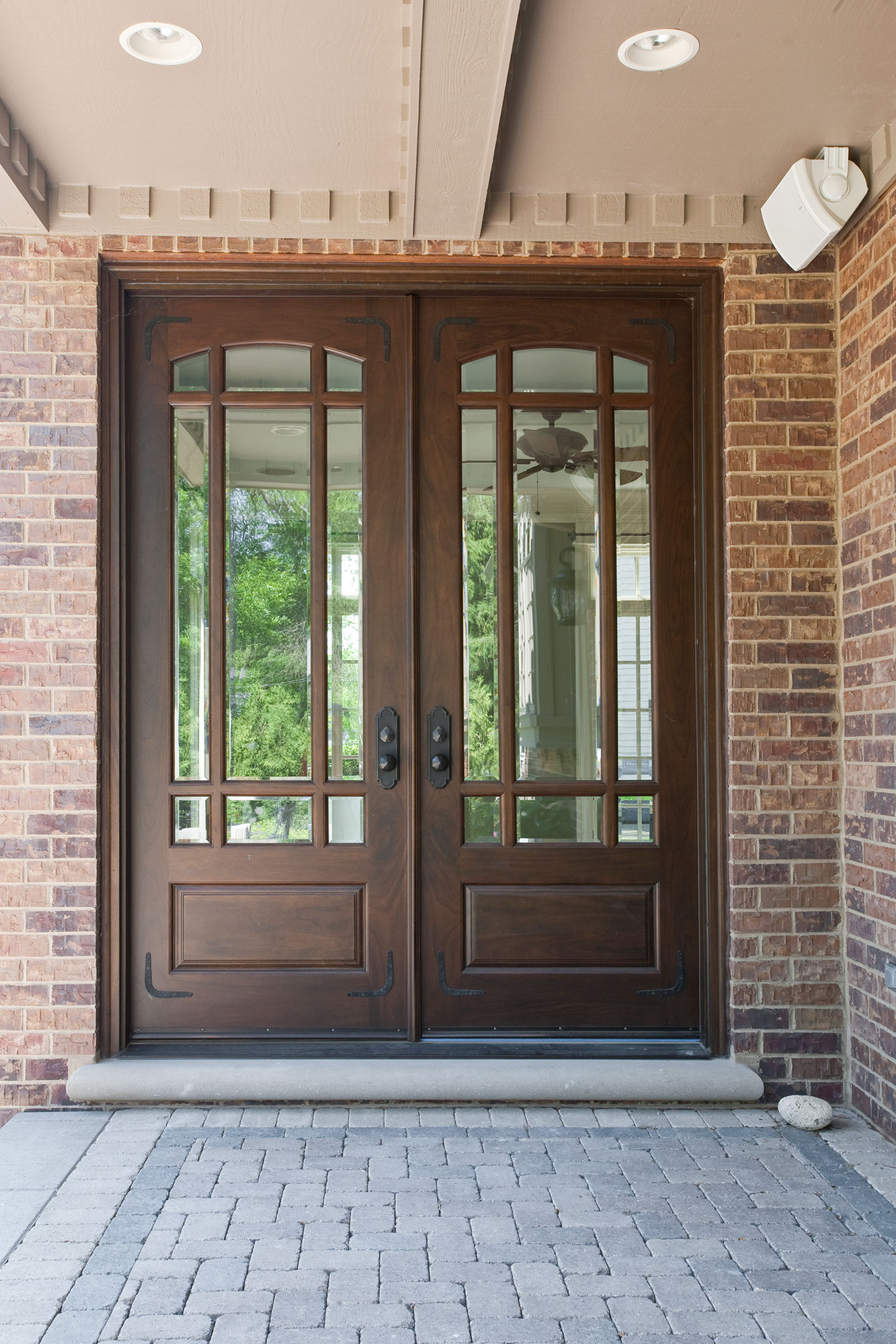 Backyard door new custom homes globex developments for Front door with large window