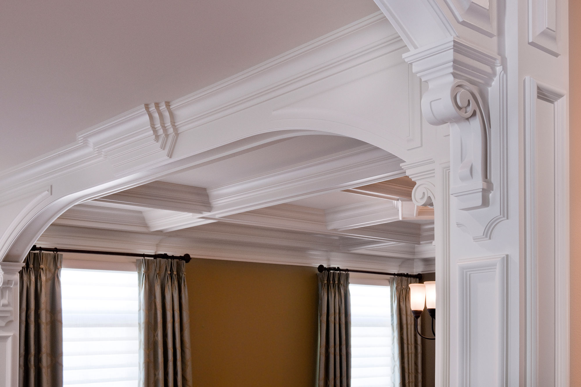 Living Room Arched Trim Detail Classic Suburban Custom
