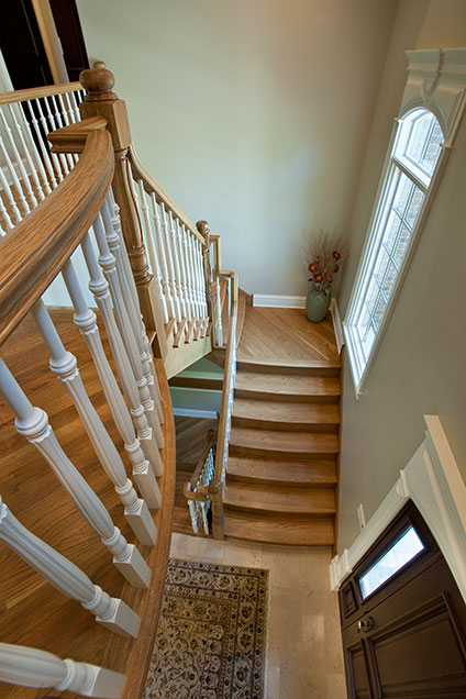 2303-Henly - Stairs-TopView - Globex Developments Custom Homes