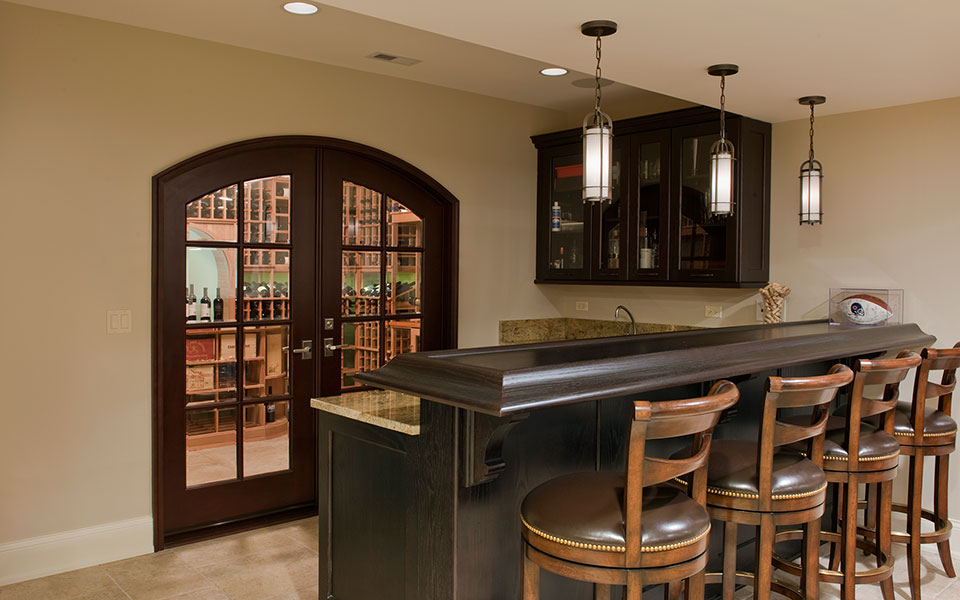 2315-Dewes-WineCellar - WineCellar-Bar-Door - Globex Developments Custom Homes