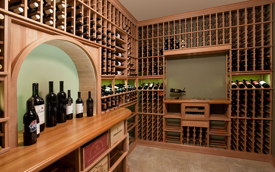 2315-Dewes-WineCellar - WineCellar-Counter - Globex Developments Custom Homes