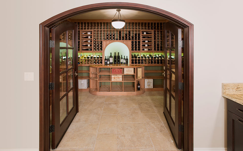 2315-Dewes-WineCellar - WineCellar-Open-Doors - Globex Developments Custom Homes
