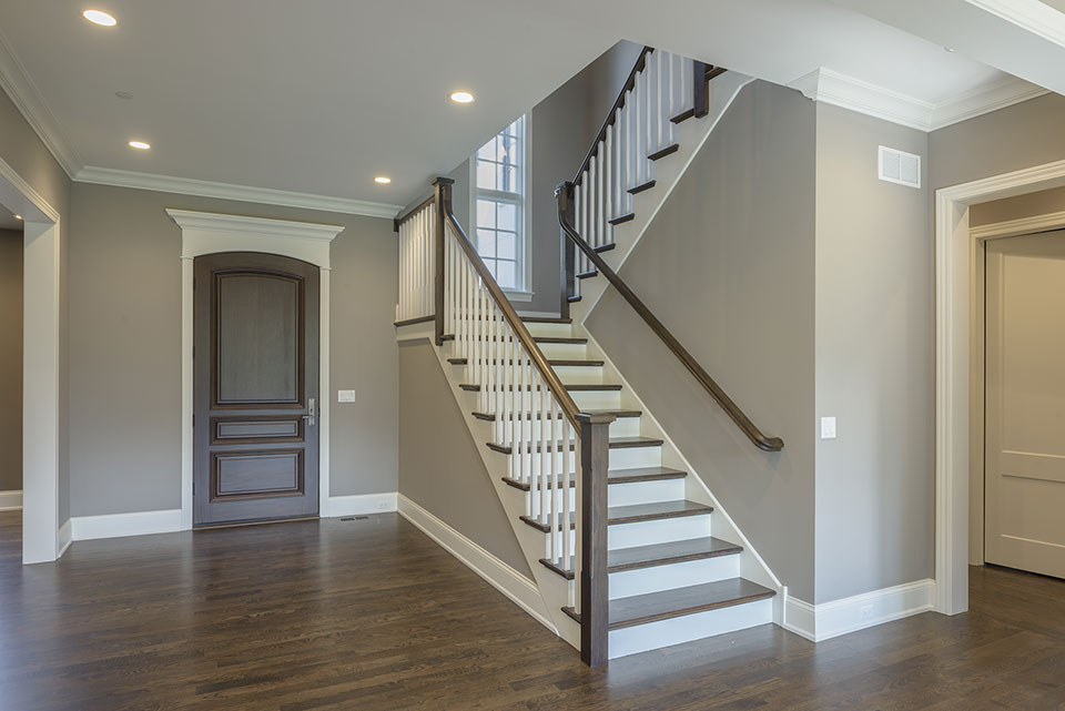2354-Wood-Drive-Northbrook - Front-Doors-Stairs-Angle-View - Globex Developments Custom Homes