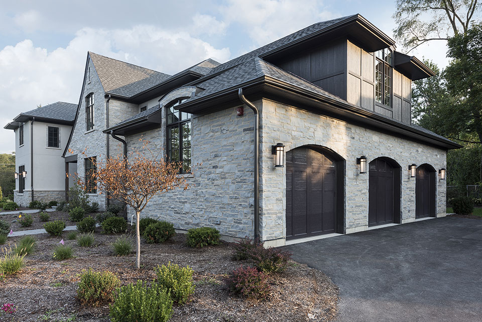 2354-Wood-Drive-Northbrook - House-Exterior-Side-Elevation-Garage-view - Globex Developments Custom Homes