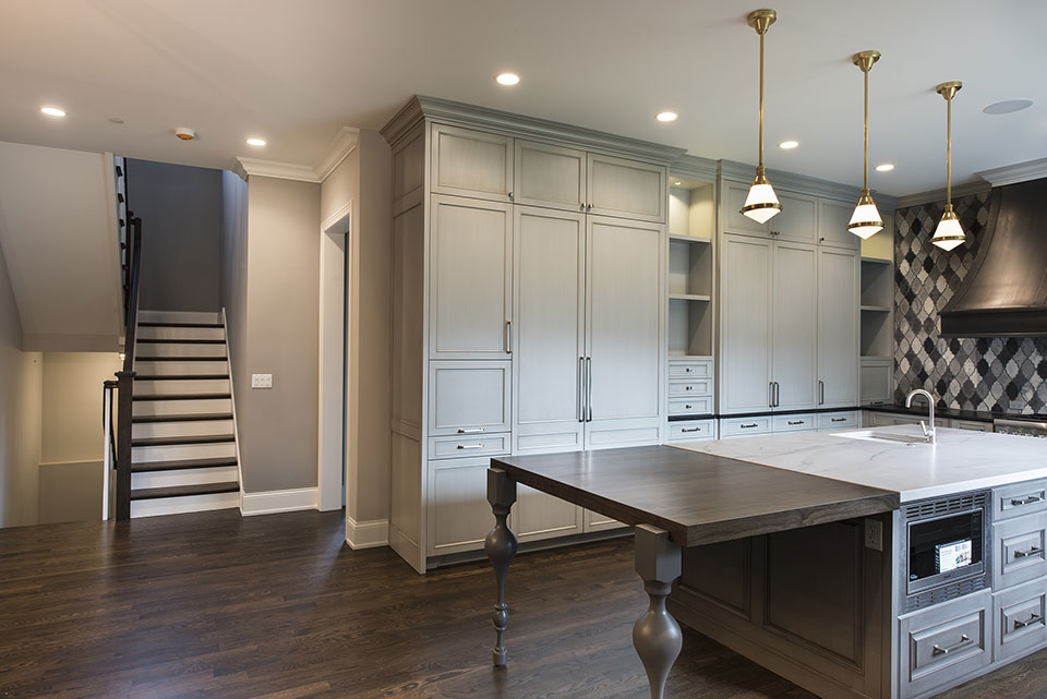 2354-Wood-Drive-Northbrook - Kitchen,-Stairs-View - Globex Developments Custom Homes