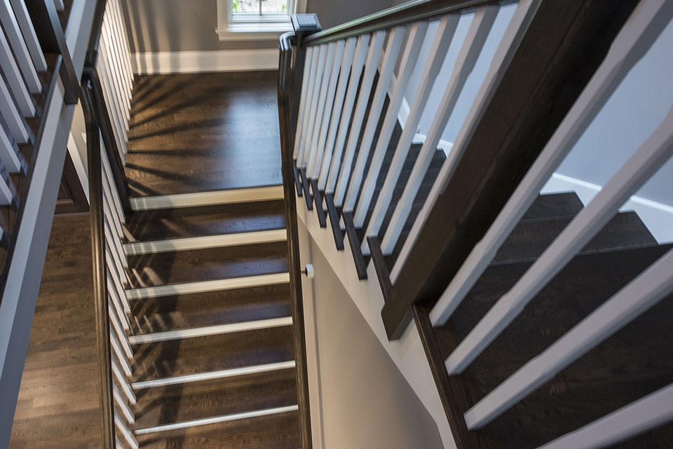 2354-Wood-Drive-Northbrook - Stairs-Top-View - Globex Developments Custom Homes