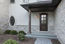 2354-Wood-Drive-Northbrook - GD-652W Single Arch Top Front Door, Mudroom Entrance - Globex Developments Custom Homes