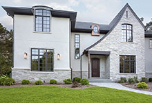2354-Wood-Drive-Northbrook - Front Elevation, Entry Door - Globex Developments Custom Homes