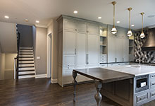 2354-Wood-Drive-Northbrook - Kitchen, Stairs View - Globex Developments Custom Homes