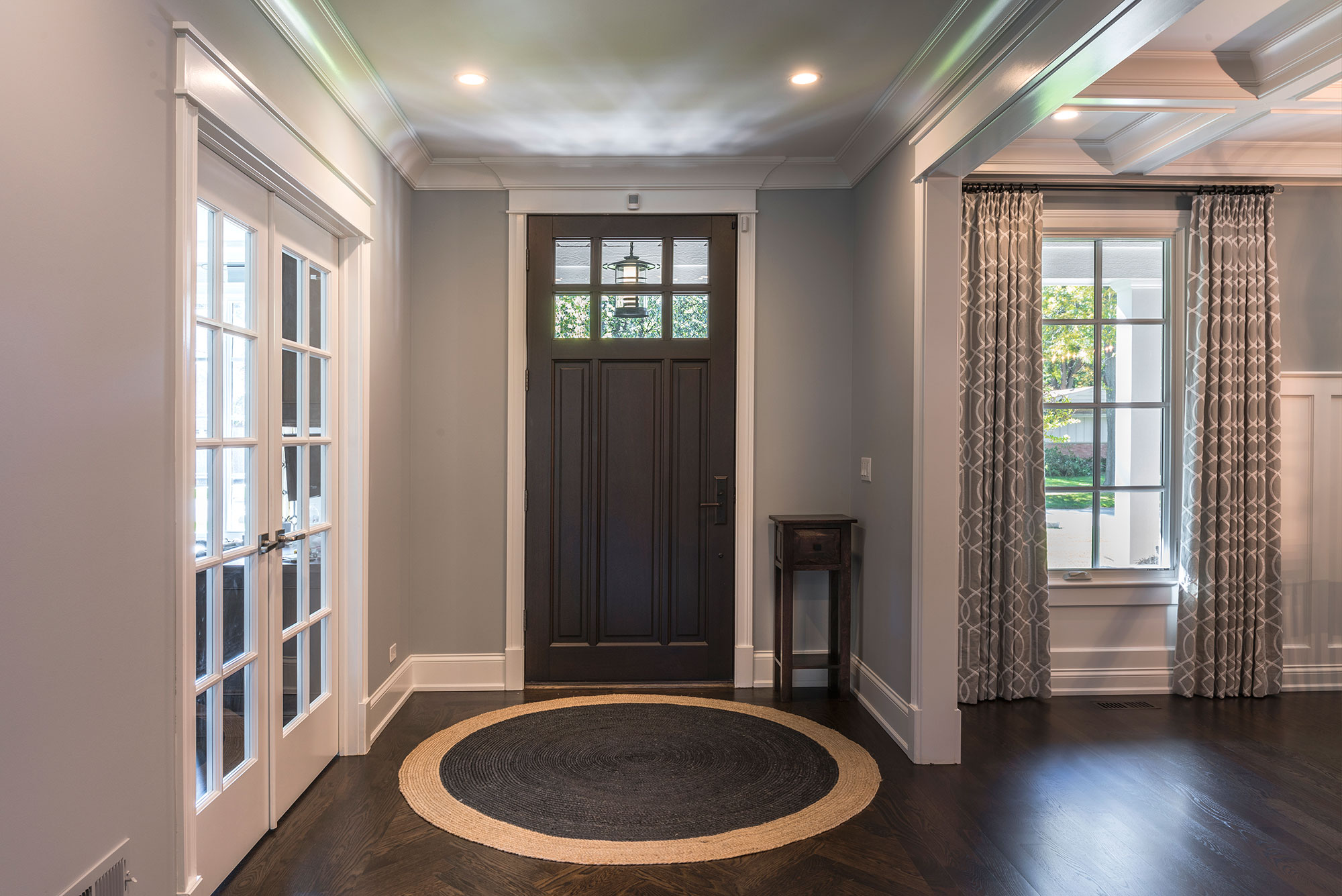 Office Exterior Entry : Entrance front door office new custom homes