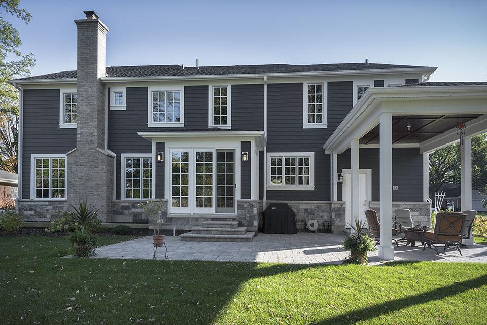 2430-Fir-St-Glenview - Back Elevation, Backyard - Globex Developments Custom Homes