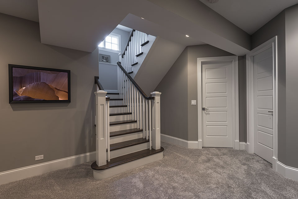 2430-Fir-St-Glenview - Basement,-Stairs - Globex Developments Custom Homes