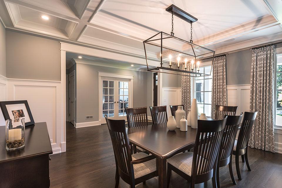 2430-Fir-St-Glenview - Dining Room, Office Door View - Globex Developments Custom Homes