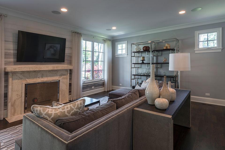 2430-Fir-St-Glenview - Family Room, Fireplace - Globex Developments Custom Homes