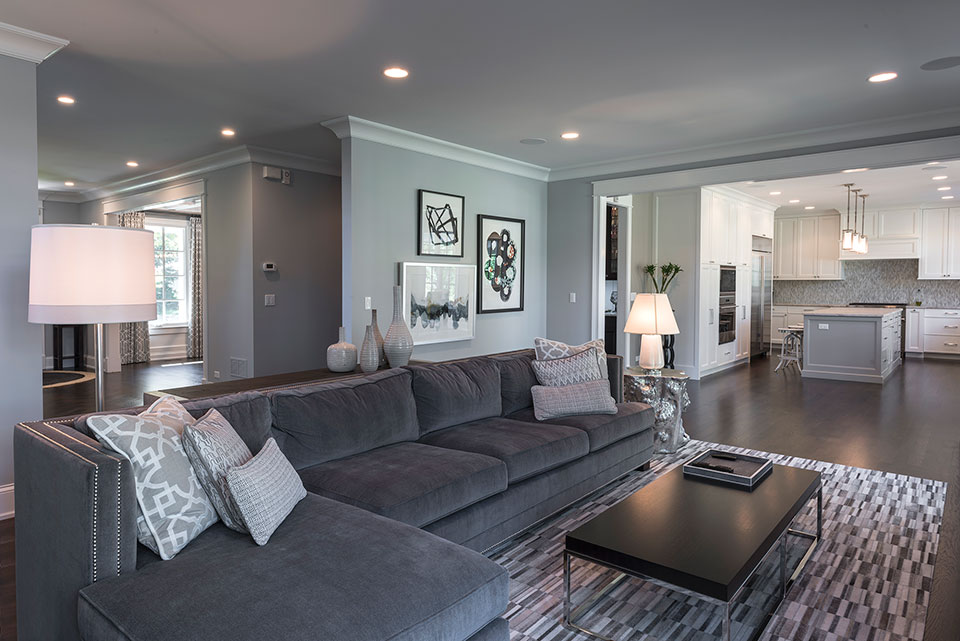 2430-Fir-St-Glenview - Family-Room-Kitchen-view - Globex Developments Custom Homes