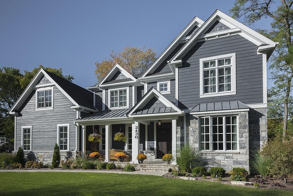 2430-Fir-St-Glenview - Front Elevation, Side View - Globex Developments Custom Homes