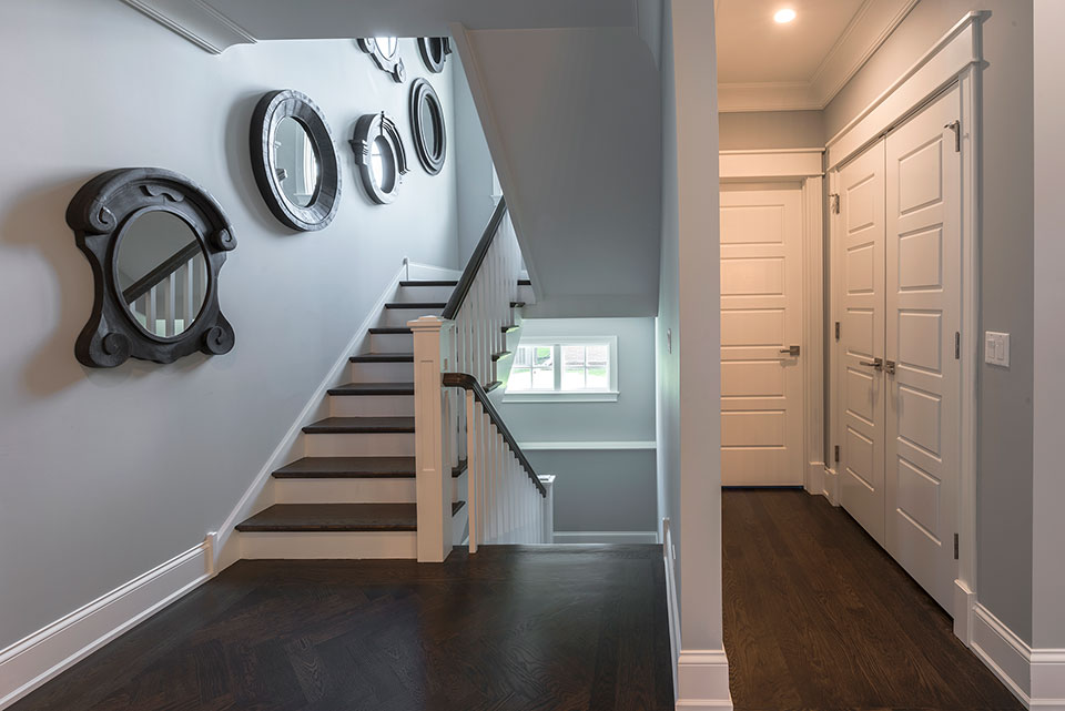 2430-Fir-St-Glenview - Stairs,Powder-Room-Door,-Closet-Door - Globex Developments Custom Homes