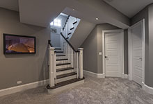 2430-Fir-St-Glenview - Basement, Stairs - Globex Developments Custom Homes