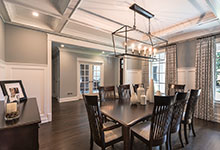 2430-Fir-St-Glenview - Dining Room, Office Door View - Globex Developments Custom Homes