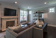 2430-Fir-St-Glenview - Family Room, Fireplace - Globex Developments Custom Homes