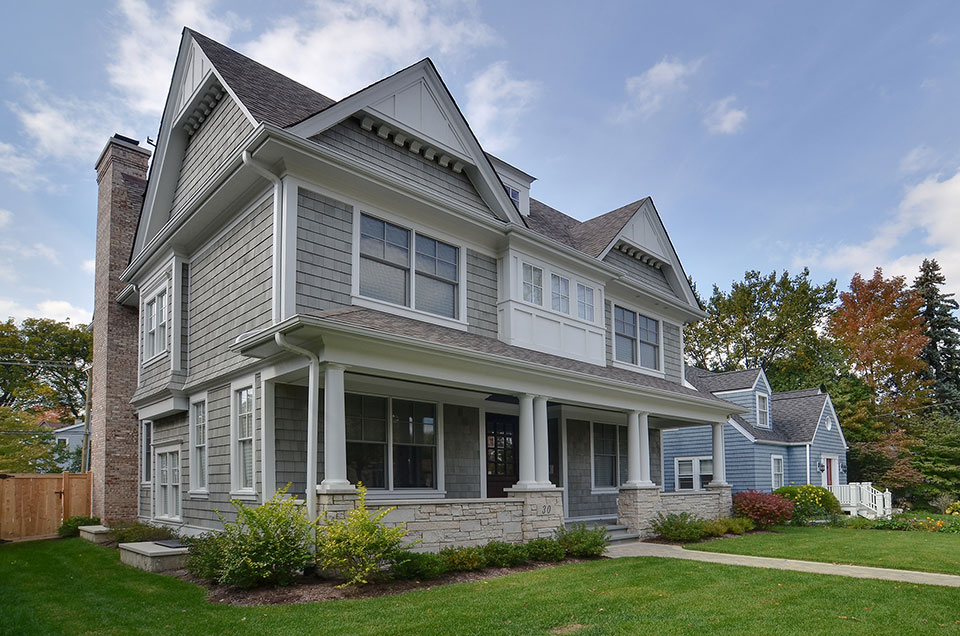 30-S-Bruner-Hinsdale - Front-Elevation-Angle-View - Globex Developments Custom Homes