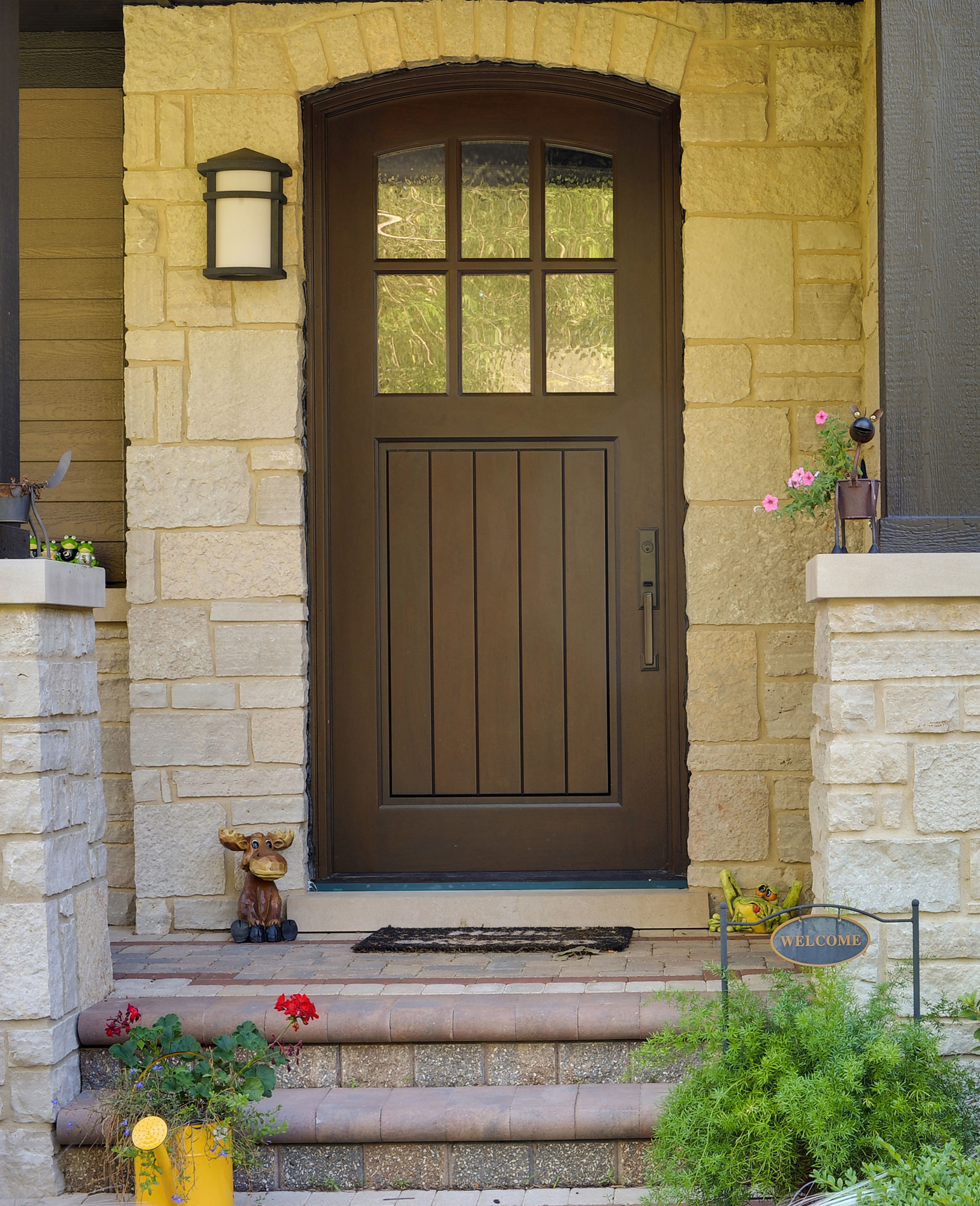 the entry door at laws house Schlage connect century satin nickel single-cylinder motorized electronic entry door deadbolt with touchscreen keypad featuring z-wave enter your location for pricing and availability.